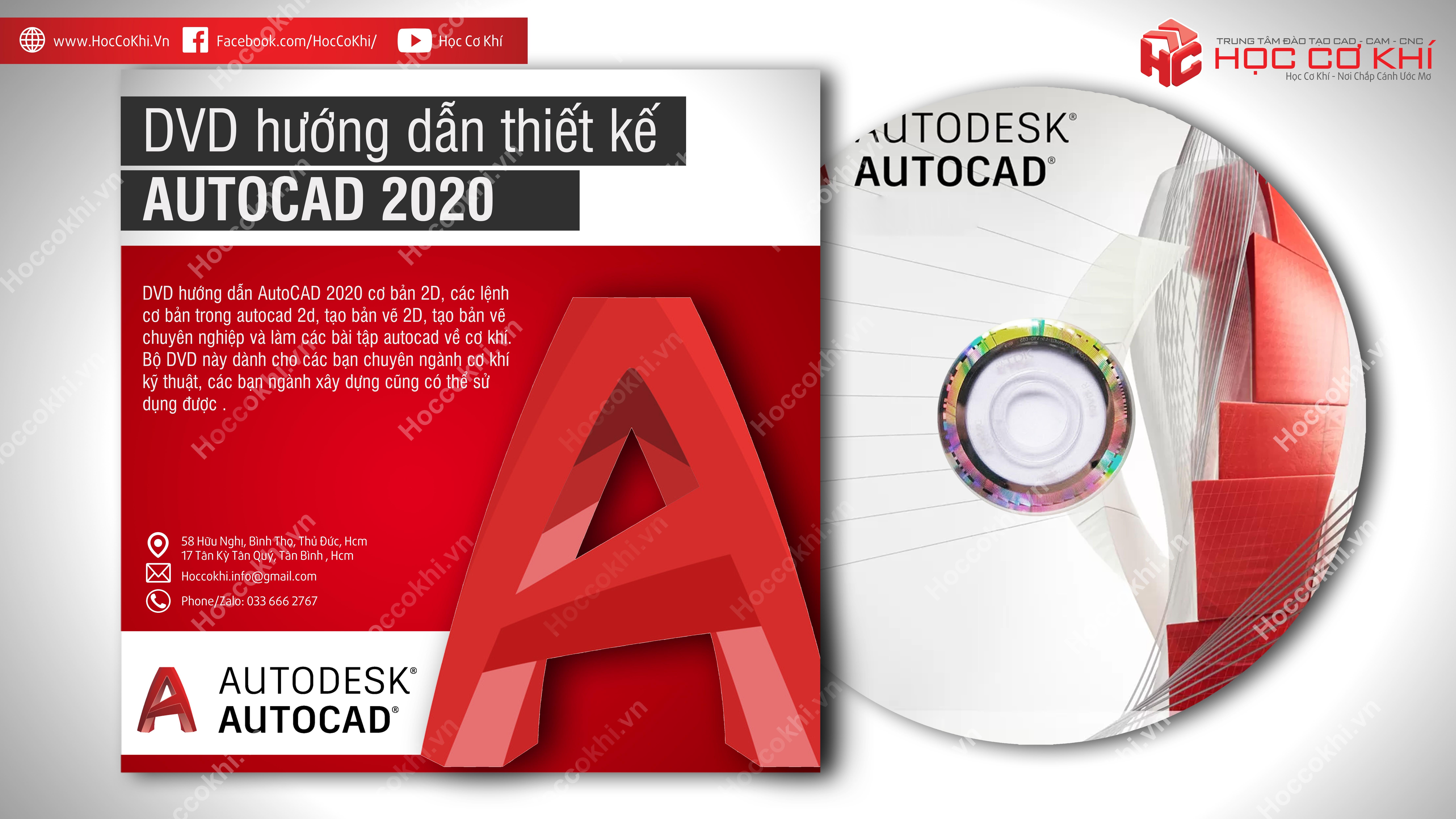 DVD hướng dẫn AutoCAD 2020