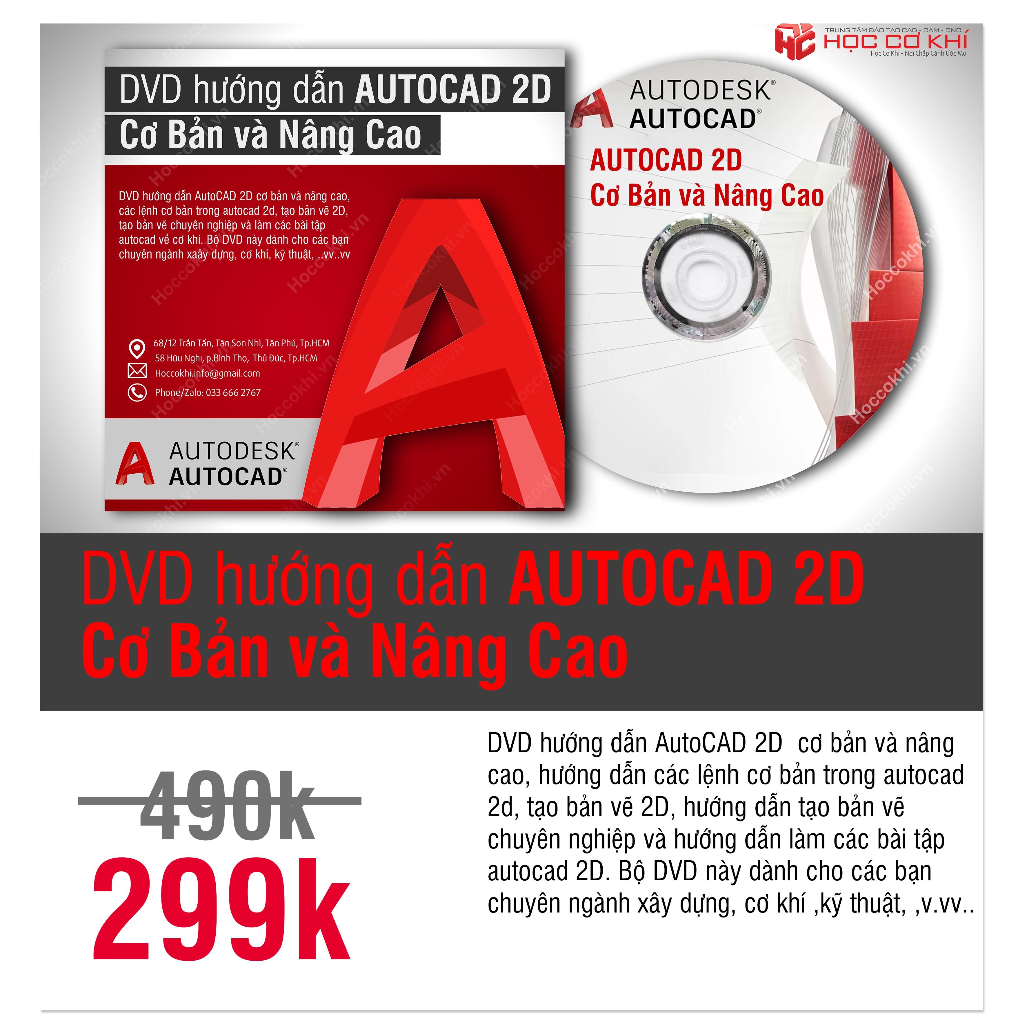 DVD hướng dẫn AutoCAD 2020 tự học Autocad hiệu quả
