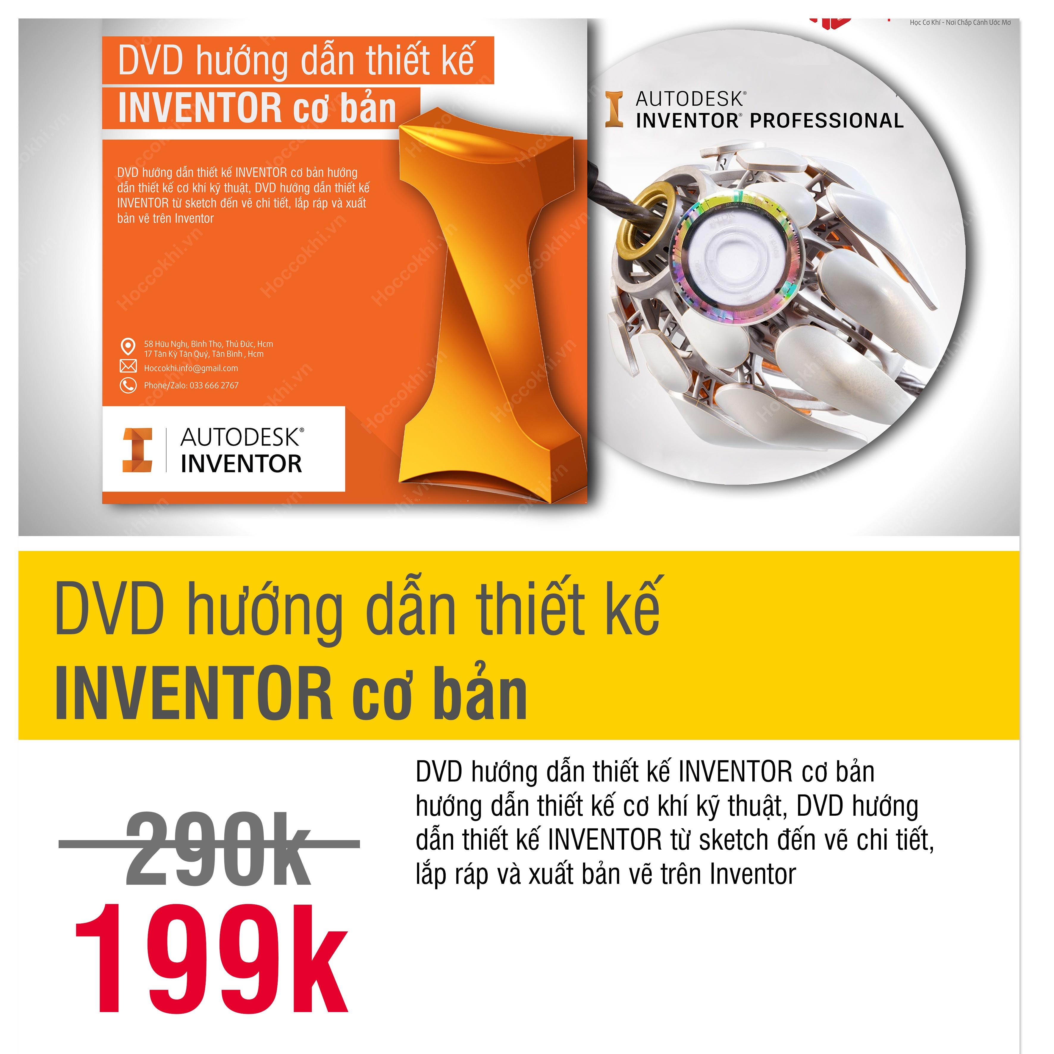 DVD hướng dẫn thiết kế INVENTOR cơ bản